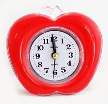apple shape plastic quartz analog alarm clock