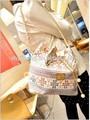 Moda canvos balde cadeia saco sacos de senhora da moda retro um mensageiro saco de ombro bolsas femininas( m40040f)