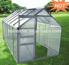 Aluminium gable growing house