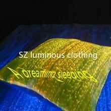 LED light up sublimation custom decorative pillow case
