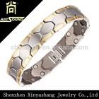 2015 New Arrival !! Custom Logo anti-static bio magnetic stainless bracelet