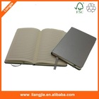 sliver color round edge leather notebook,leather hardcover book,paper notebook,