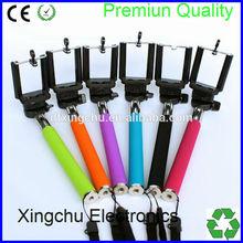 2015 High quality kingwon selfie stick , wireless monopod bluetooth shutter button , Cable take pole selfie stick