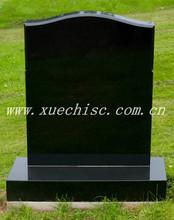 Xuechi Stone Russian Style shanxi black granite cemetery headstone tombstone