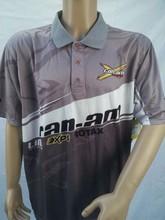 P10-109 Custom Sublimation Motorcross collar short sleeve Sports Polo T shirts