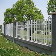 Rustproof Galvanized and pvc coated Steel Picket Garden Fencing
