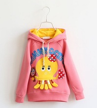 Z83847C 2014 winter newest design thicken fleece cute kids fleeces