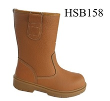 SY,Winter keep warm wool lining oil resistant heavy work steel toe safety mining boots