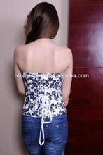 Sexy women Spandex/Polyester Material sexy bustier corset garter