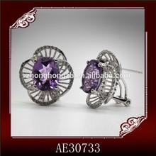 Factory design lady elegant earrings basket new years gift earrings custom party jewellery earrings