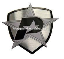 Fornecimento personalizado de alumínio escovado do metal logotipo da placa de identificação