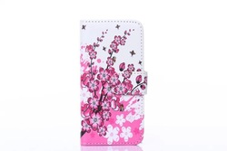 for i phone6,Flower and Flags design wallet cover for iPhone 6 with card and Cashslots