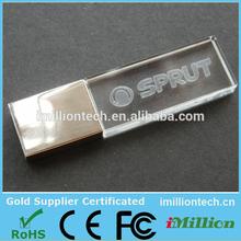 2015 Customized logo crystal USB flash drive 4GB cheap bulk wholesale Alibaba Express crystal USB