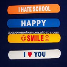 Popular kids gifts cheap custom wholesale slap bracelets, Wholesale slap band wide slap bracelet for promotion gift