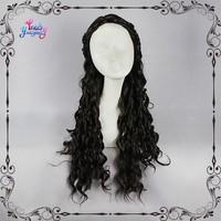 New arrival Olga Kloze black deep curly cosplay wigs