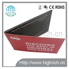 Artificial,romantic Style and Paper,special paper Material video greeting card and lcd video brochure
