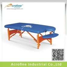 Acrofine heated massage table with insert warming pad