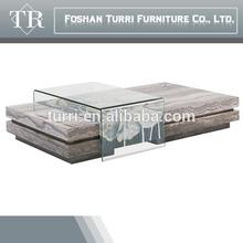KD236G Natural Iran travertine stone coffee table