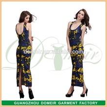 Factory mixture color sexy maxi ladies' long dress