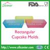 High Temperature Silicone Rectangle Cupcake Mold