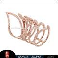 Caliente vender simplemente el diseño de moda anillo, 925 de plata de ley