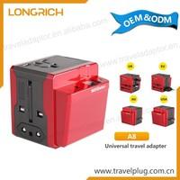 Worldwide Multi Adapter Safety Shutter Usb Port Universal Travel Adapter