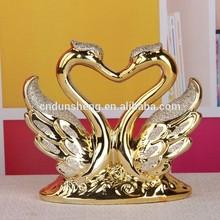 Decoración del hogar moderno de regalo de artesanía/mate electrolíticos de cisne de cerámica para la decoración del hogar/regalo de boda
