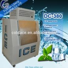 bagged Ice Storage Bin for outdoor using aluminum convex door