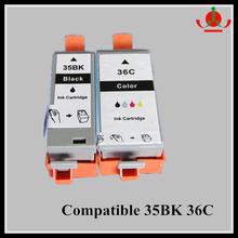 Compatible ink cartridge for Canon PGI -35BK CLI- 36CP