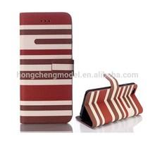 Wallet Case for Nokia asha 501, Color Stripe PU Leather Flip Case