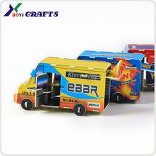 plastic toys diy toys diy 3D plastic puzzle bus