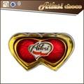 2 PC forma do coração chocolate candy nomes / atacado chocolate / chocolate escuro