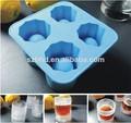 Best seller tiro de vidro garrafa de molde com 4 - Cavity Silicone copo de gelo molde