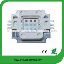 led rgb light 10w 6 pin rgb led square shape epileds chip RGB led CE&RoHS certificate