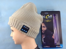 Wholesale Fashion Folding Knitted Cap Bluetooth Beanies For Mobile Phone