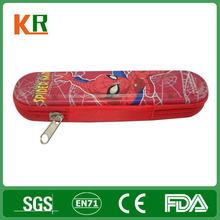 Decorative zipper pencil tin box