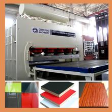 1830*3660mm short cycle automatic press line/ melamine mdf laminating machinery
