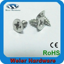 cross recessed flat countersunk head machine screw