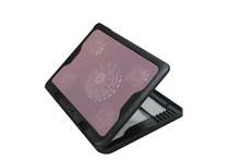 foldable laptop stand cooling pad USB led five fans