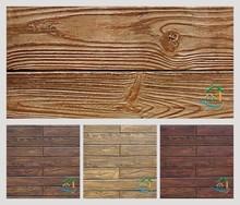 Green wood styles faux stone siding
