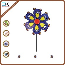 Cute mouse printing design kids plastic toy windmill, kids pinwheel, spinning toy windmill