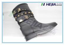 wholesale pvc rain shoes short riding boots of vintage galoshes
