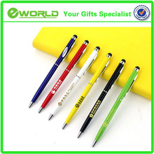 Logo customized Business gift touch stylus metal body ballpoint pen