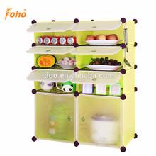 Portátil plástico de grandes dimensões armário de cozinha planos para armazenamento FH-AW96312-8