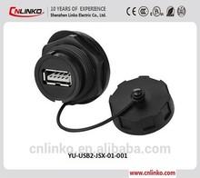 For Digital Cameras IP67 PBT Circular Waterproof Usb Receptacle With High Speed