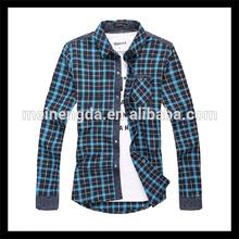 Simple fancy check pattern cotton matching dress shirts pants