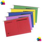 Paper Suspension File Folders,25/box, Assorted colors, FC size