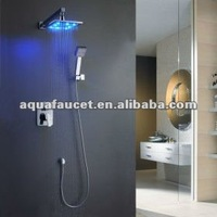 Hotel LED concealed wall Mounted Rain Italian Shower mixer