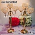 Support de bougie de mariage en or, décoration de table de mariage, candélabres mariage pour le mariage de décoration( peut- 012)