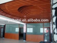 pop building aluminum wooden grain transferring ceiling panel